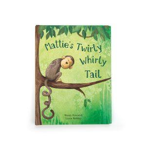 JELLY CAT MATTIE'S TWIRLY WHIRLY TAIL BOOK