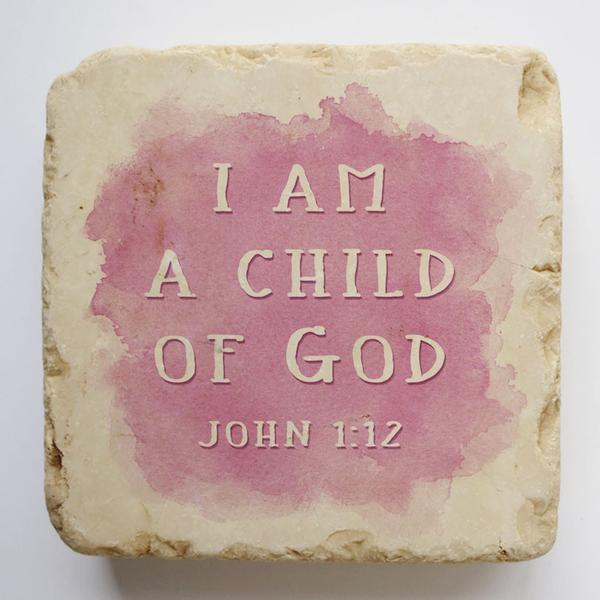 JOHN 1:12 SMALL STONE BLOCK