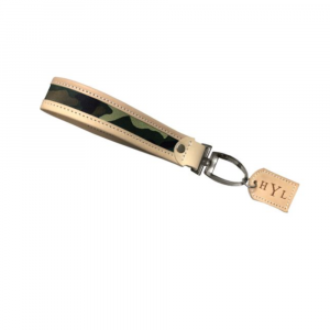 JON HART CAMO COATED CANVAS PEARL KEY CHAIN