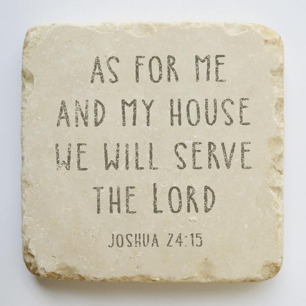 JOSHUA 24:15 SMALL AND LARGE STONE BLOCK