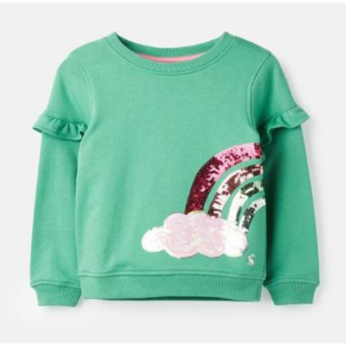 JOULES USA GREEN RAINBOW TIANA SWEATSHIRT