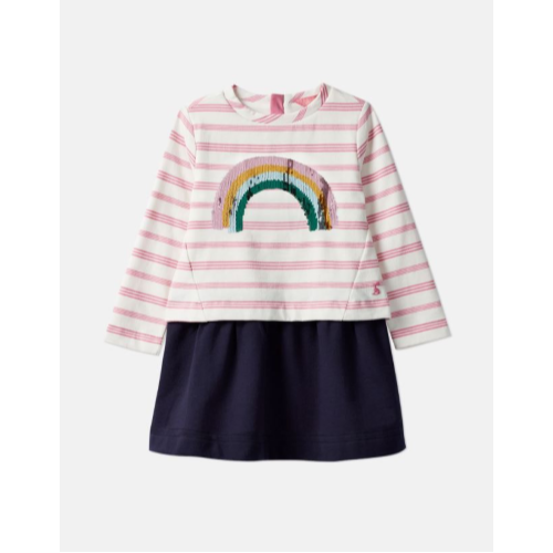 JOULES USA RAINBOW LUCY MOCK LAYER DRESS