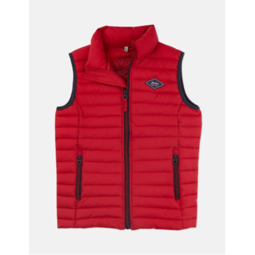 JOULES USA RED CROFTON PACKAWAY GILET