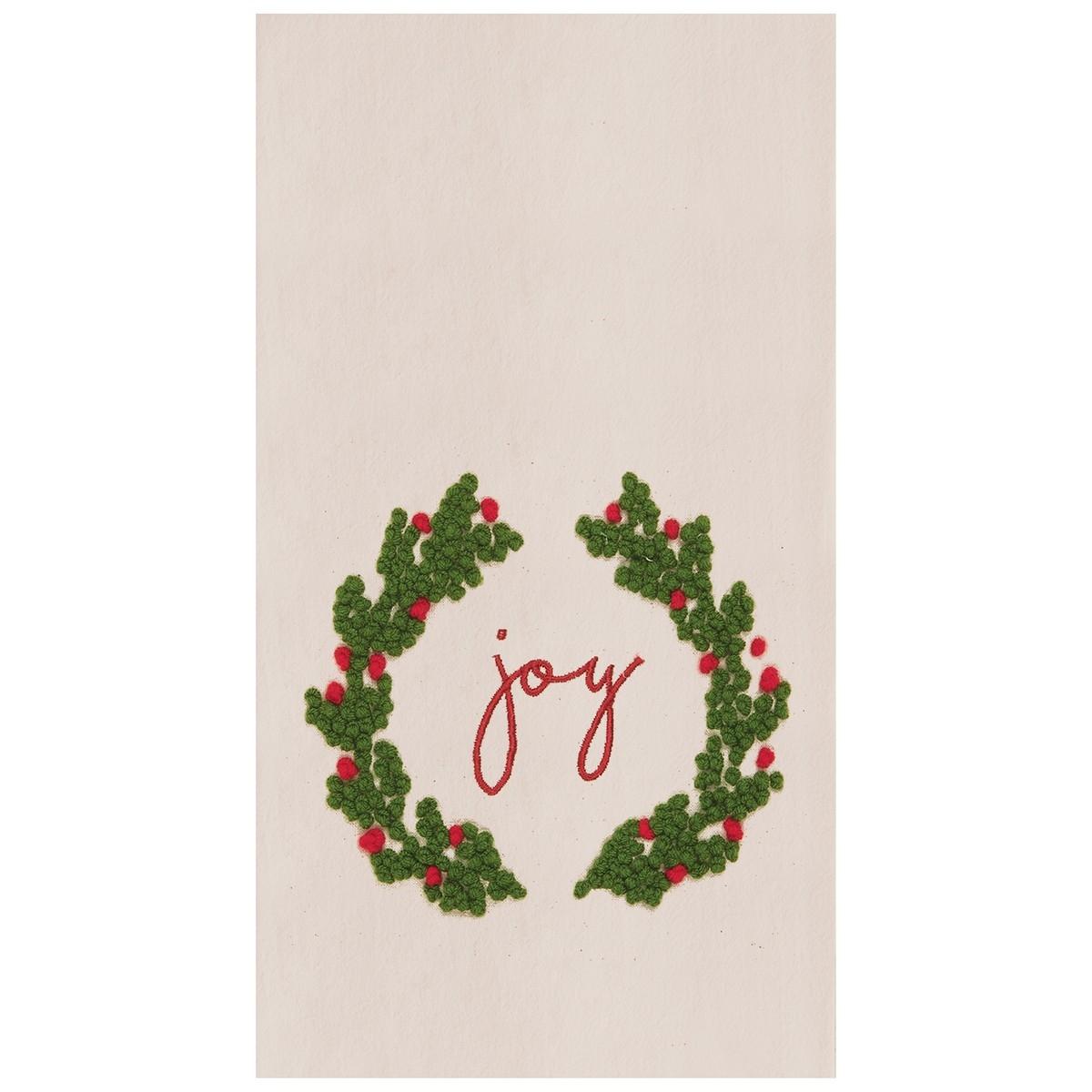 Joy Wreath Towel Magpies Gifts