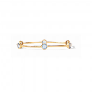 JULIE VOS CHALCEDONY BLUE MILANO BANGLE