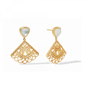 JULIE VOS FAN EARRINGS