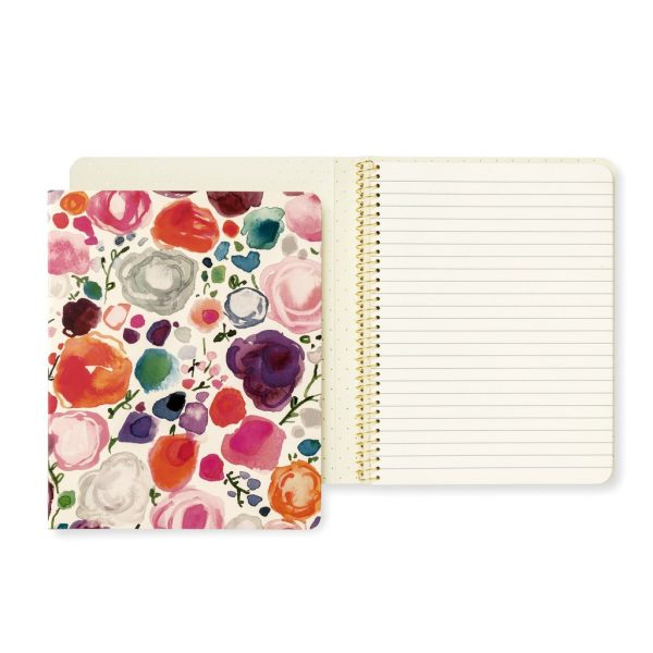 KATE SPADE NEW YORK CONCEALED SPIRAL NOTEBOOK, FLORAL
