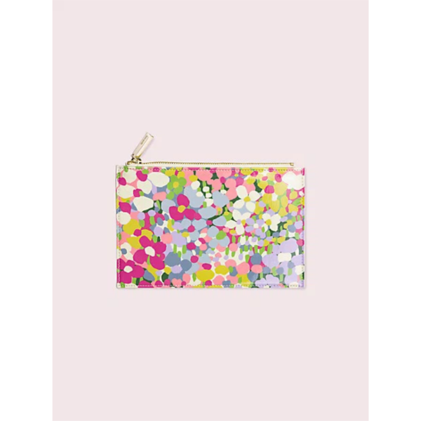KATE SPADE NEW YORK FLORAL DOT PENCIL POUCH