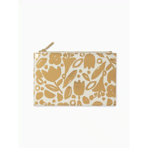 KATE SPADE NEW YORK GOLDEN FLORAL PENCIL POUCH
