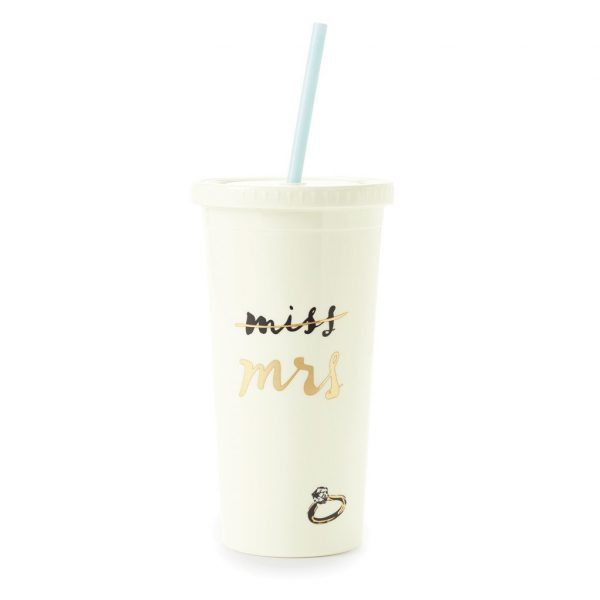 KATE SPADE NEW YORK INSULATED TUMBLER - MISS TO MRS