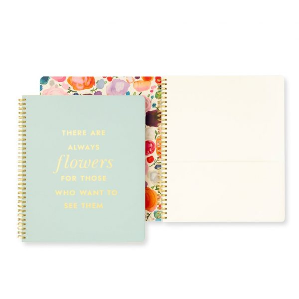 KATE SPADE NEW YORK LARGE SPIRAL NOTEBOOK, ALWAYS FLOWERS