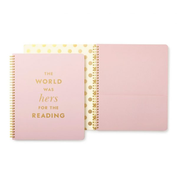 KATE SPADE NEW YORK LARGE SPIRAL NOTEBOOK - HERS FOR THE READING