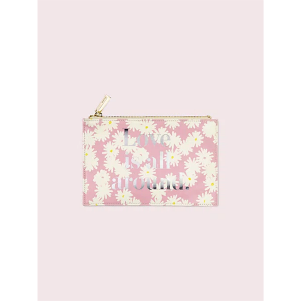 KATE SPADE NEW YORK LOVE IS ALL AROUND PENCIL POUCH