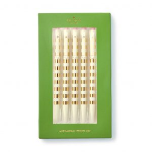 KATE SPADE NEW YORK MECHANICAL PENCIL SET, GOLD STRIPE