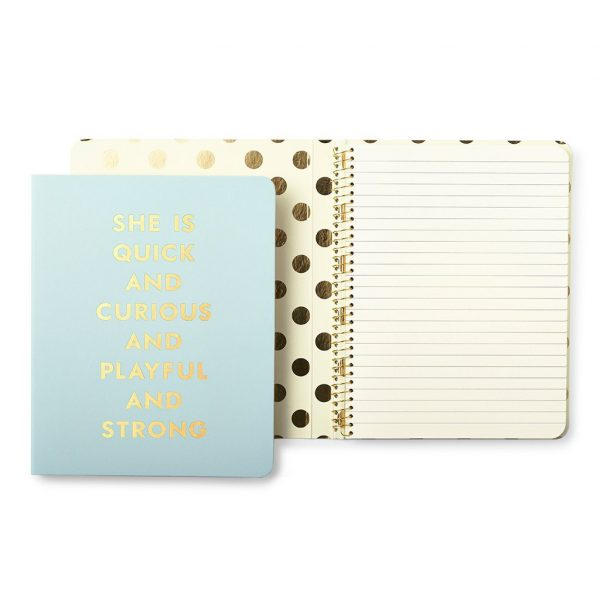 KATE SPADE NEW YORK SPIRAL NOTEBOOK - QUICK & CURIOUS
