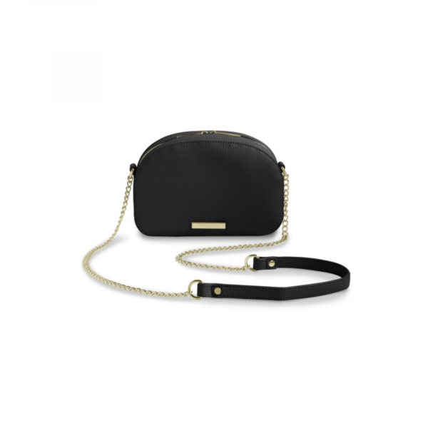 KATIE LOXTON BLACK HALF MOON BAG