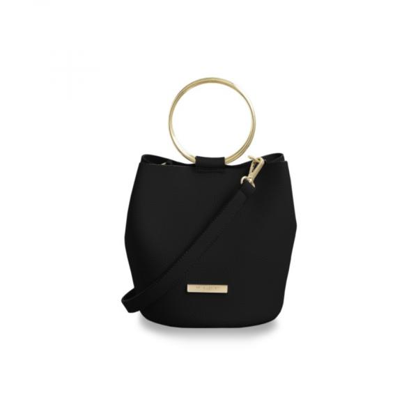 KATIE LOXTON BLACK SUKI BUCKET BAG