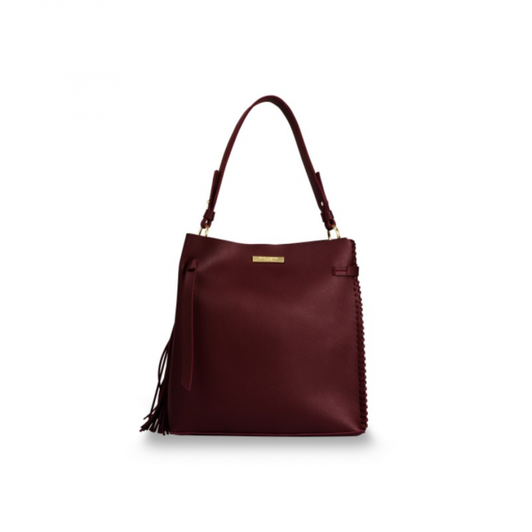 KATIE LOXTON BURGUNDY FLORRIE DAY BAG