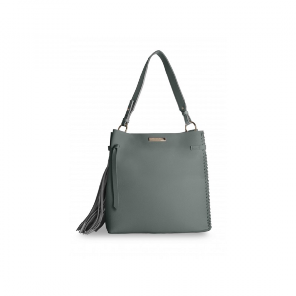 KATIE LOXTON CHARCOAL FLORRIE DAY BAG