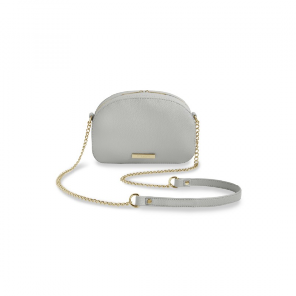 KATIE LOXTON GREY HALF MOON BAG
