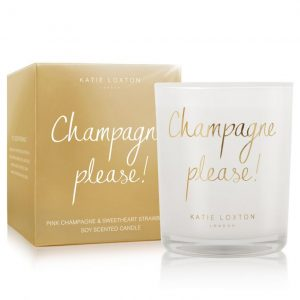 KATIE LOXTON METALLIC CANDLE - CHAMPAGNE PLEASE