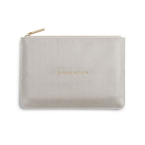 KATIE LOXTON PERFECT POUCH - CHAMPAGNE PLEASE