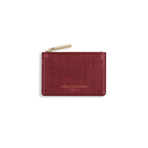 KATIE LOXTON RED ALEXA METALLIC CARD HOLDER