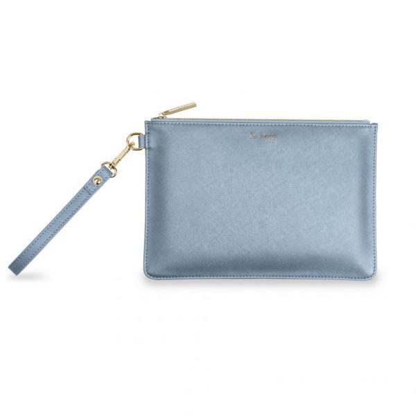 KATIE LOXTON SECRET MESSAGE POUCH - BE HAPPY