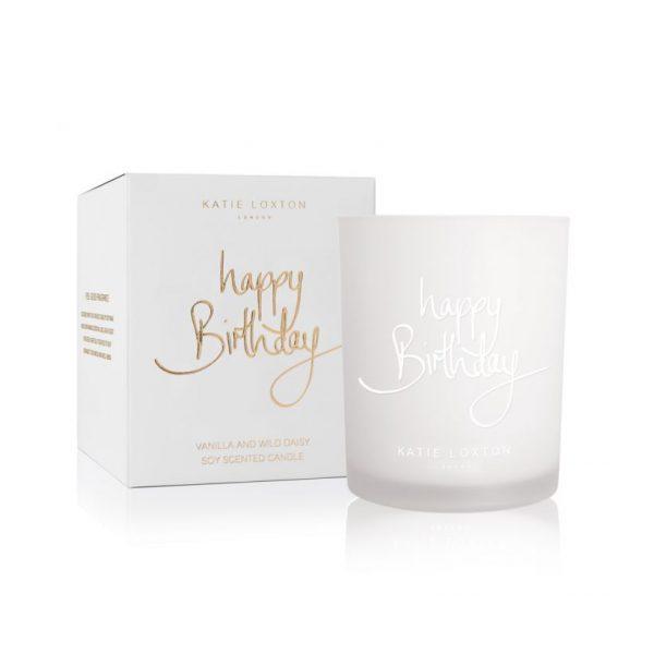 KATIE LOXTON SENTIMENT CANDLE - HAPPY BIRTHDAY