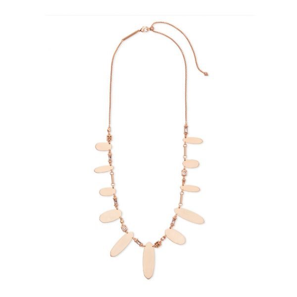 KENDRA SCOTT AIRELLA NECKLACE IN ROSE GOLD