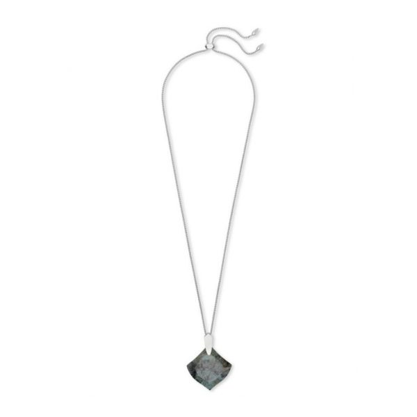 KENDRA SCOTT AISLINN NECKLACE IN RHODIUM