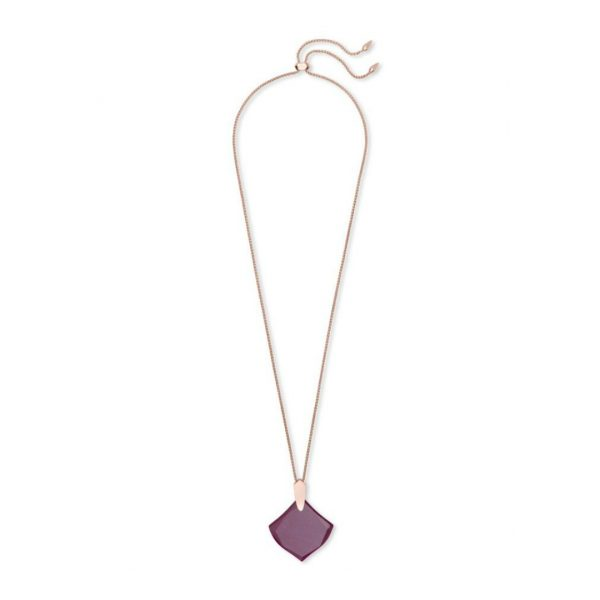 KENDRA SCOTT AISLINN NECKLACE IN ROSE GOLD