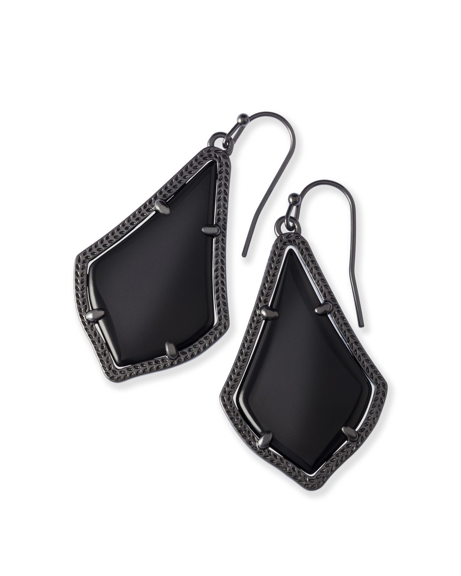 glass gunmetal kendra a elle shop earrings scott in opaque earring black english rose