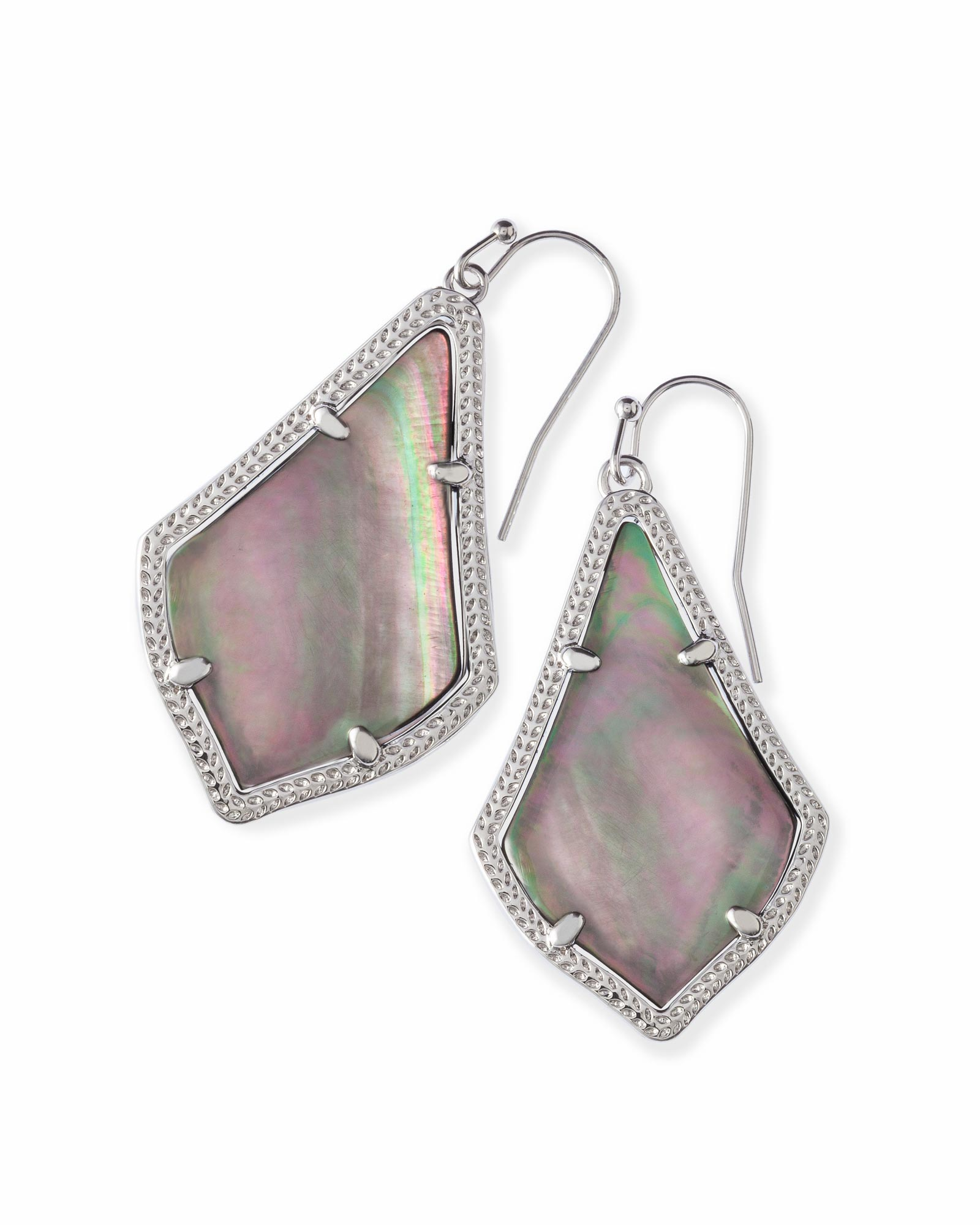 KENDRA SCOTT ALEX EARRINGS IN RHODIUM