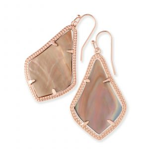 KENDRA SCOTT ALEX EARRINGS IN ROSE GOLD