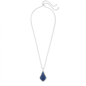 KENDRA SCOTT ALEX PENDANT IN RHODIUM