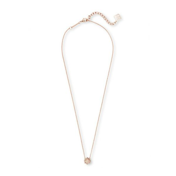 KENDRA SCOTT ANNALIESE NECKLACE IN ROSE GOLD