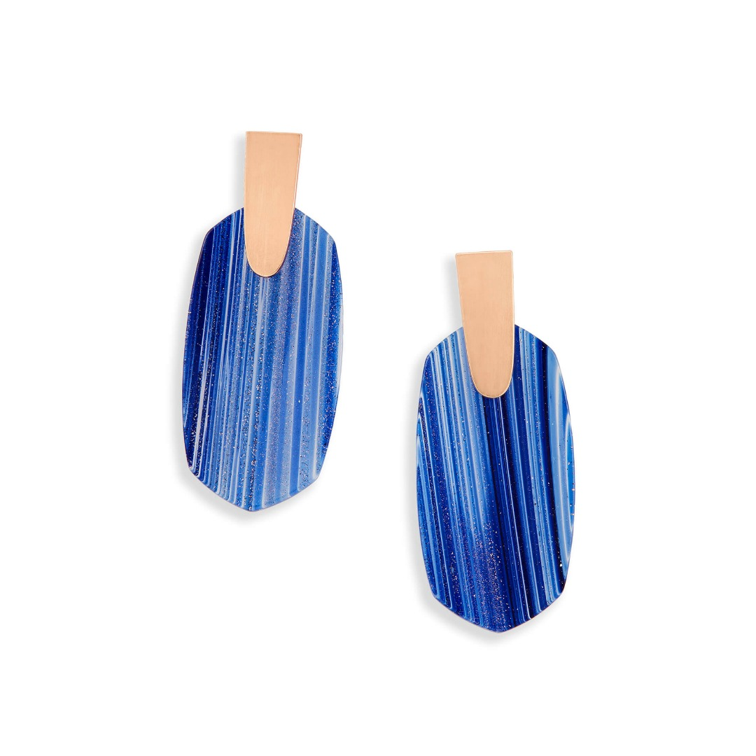 KENDRA SCOTT ARAGON EARRINGS IN ROSE GOLD