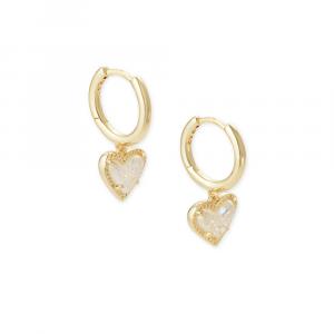 KENDRA SCOTT ARI HUGGIE EARRINGS IN GOLD