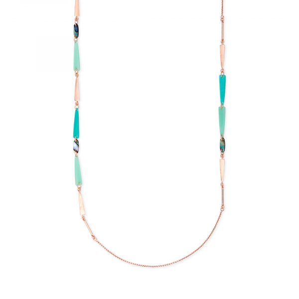 KENDRA SCOTT AYLIN NECKLACE IN ROSE GOLD
