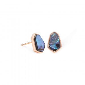 KENDRA SCOTT CLOVE EARRINGS IN ROSE GOLD