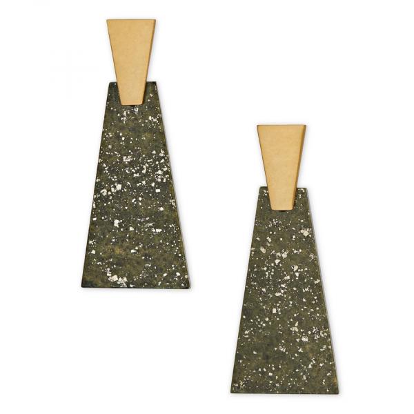 KENDRA SCOTT COLLINS LARGE EARRINGS IN GOLD