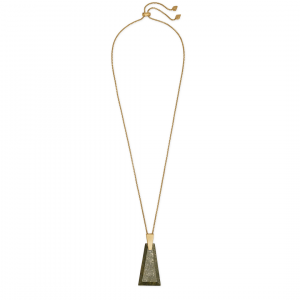 KENDRA SCOTT COLLINS LONG NECKLACE IN GOLD