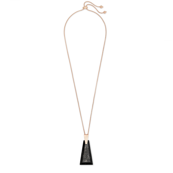 KENDRA SCOTT COLLINS LONG NECKLACE IN ROSE GOLD