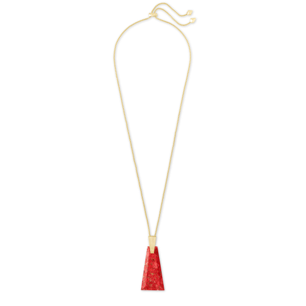 KENDRA SCOTT COLLINS LONG PENDANT NECKLACE IN GOLD