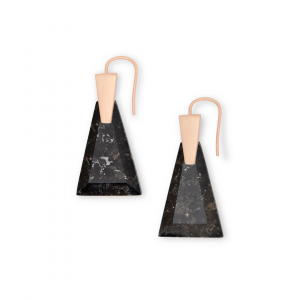 KENDRA SCOTT COLLINS SMALL EARRINGS IN ROSE GOLD