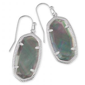 KENDRA SCOTT DANI EARRINGS IN RHODIUM