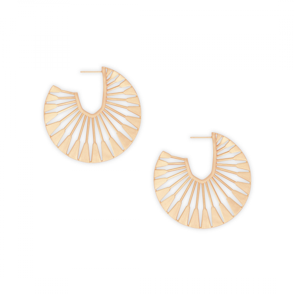 KENDRA SCOTT DEANNE EARRINGS IN ROSE GOLD