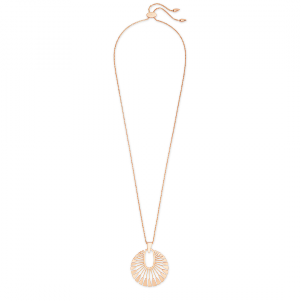 KENDRA SCOTT DEANNE LONG NECKLACE IN ROSE GOLD