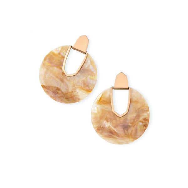 KENDRA SCOTT DIANE EARRINGS IN ROSE GOLD